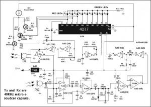Schema sensore di parcheggio