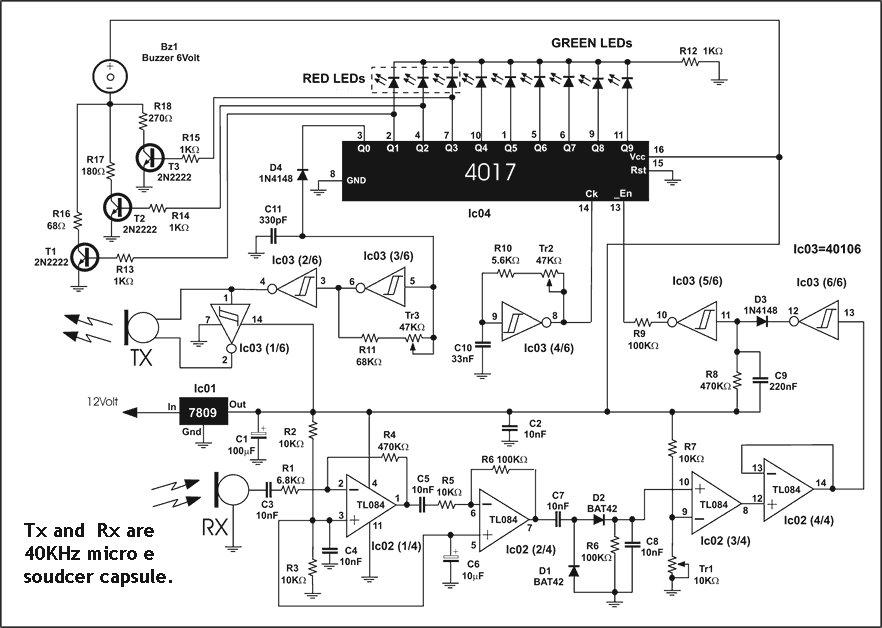 Schema Elettrico Sensori Di Parcheggio : Schema sensore di parcheggio i t p francesco benignetti